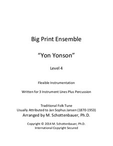 Big Print Ensemble: Level 4: Yon Yonson for flexible instrumentation by folklore