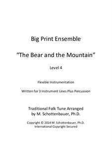 Big Print Ensemble: Level 4: The Bear and the Mountain for flexible instrumentation by folklore