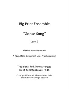 Big Print Ensemble: Level 2: Goose Song for flexible instrumentation by folklore