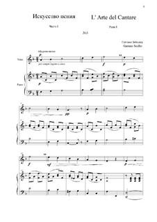 L' Arte del Cantare. Parte I: Vocalise No.3 by Gaetano Seidler