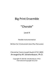 Chorale: For flexible instrumentation by Joseph Haydn