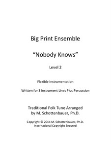 Big Print Ensemble: Level 2: Nobody for flexible instrumentation by folklore