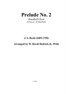 Sechs kleine Präludien, BWV 933-938: No.2, for handbells by Johann Sebastian Bach