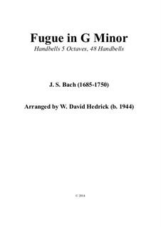 Fuge in g-Moll 'Kleine', BWV 578: For handbells by Johann Sebastian Bach
