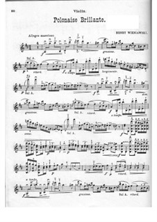 Polonaise de Concert for Violin and Piano No.1 in D Major, Op.4: Solostimme by Henryk Wieniawski