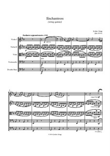 Enchantress (string quintet): Enchantress (string quintet) by Jordan Grigg