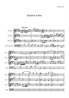 Quartett für Traversflöten und Bc: Quartett für Traversflöten und Bc by Bernhard Vass