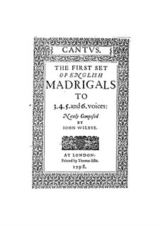 Englisches Madrigale I: Vollständiger Satz by John Wilbye