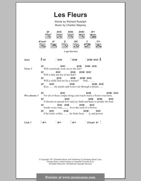 Les Fleur: Texte und Akkorde by Charles Stepney, Richard Rudolph