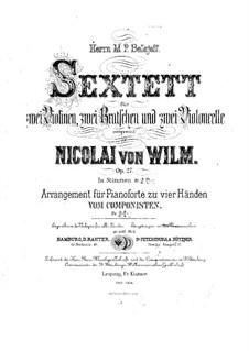 Streichsextett, Op.27: Violinstimme I by Nicolai von Wilm