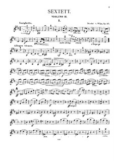 Streichsextett, Op.27: Violinstimme II by Nicolai von Wilm