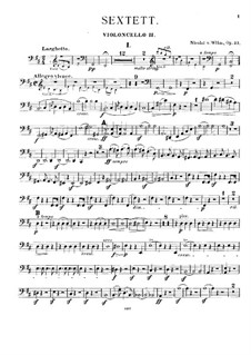 Streichsextett, Op.27: Cellostimme II by Nicolai von Wilm