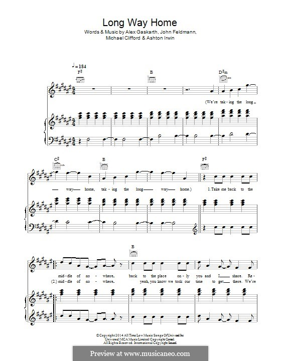 Long Way Home (5 Seconds of Summer): Für Stimme und Klavier (oder Gitarre) by Alex Gaskarth, John Feldmann, Michael Clifford, Ashton Irwin