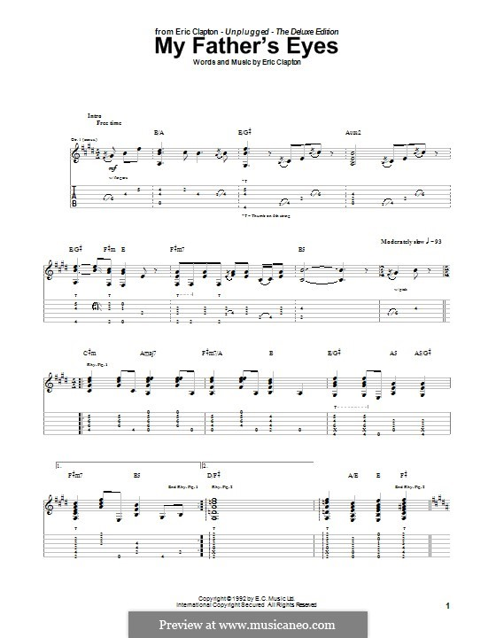 My Father's Eyes: Für Gitarre mit Tab by Eric Clapton