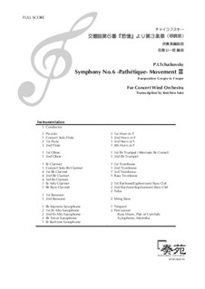 Teil III: For wind band – score and set of parts by Pjotr Tschaikowski