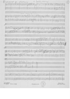 Ricercar für Cembalo: Skizzen by Ernst Levy