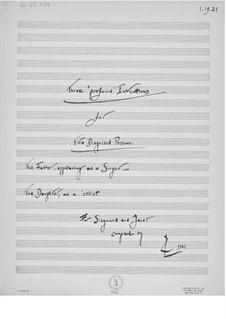 Drei 'profunde' Inventionen für Stimme und Cello: Für Stimme und Cello by Ernst Levy