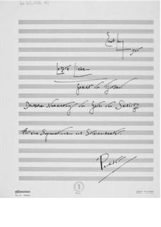 Letzte Liebe für eine Sopranstimme und Streichorchester: Vollpartitur by Ernst Levy