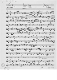 Letzte Liebe für eine Sopranstimme und Streichorchester: Orchesterstimmen by Ernst Levy
