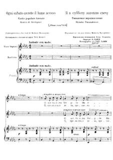 Ogni sabato avrete il lume acceso: Für Stimmen und Klavier by Luigi Gordigiani