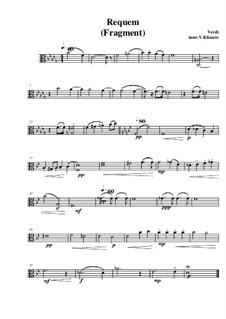 Messa da Requiem: Fragment, for string quartet – viola part by Giuseppe Verdi