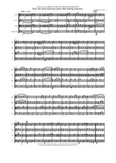 Das war noch nicht das letzte Mal: Für Streichquartett by Thomas Hans Graf