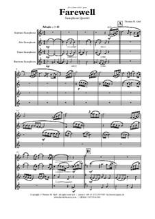 Farewell: For saxophone quartet by Thomas Hans Graf