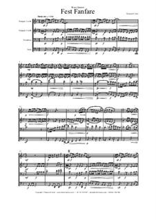 Fest Fanfare: Für Blechblasquartett by Thomas Hans Graf