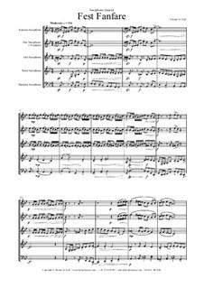 Fest Fanfare: For saxophone quartet by Thomas Hans Graf