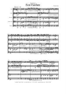 Fest Fanfare: For wind quintet by Thomas Hans Graf