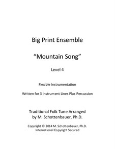 Big Print Ensemble: Level 4: Mountain Song for flexible instrumentation by folklore