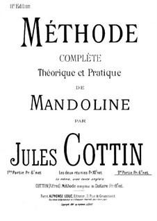 Theoretische und Praktische Mandolinenschule: Teil 2 by Jules Cottin