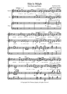 Slán le Máigh: SA choir and piano by folklore