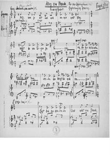 Alles ein Hauch für eine Sopranstimme mit Klavierbegleitung: Alles ein Hauch für eine Sopranstimme mit Klavierbegleitung by Ernst Levy