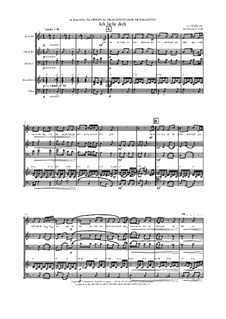 Ich liebe dich, WoO 123: For folk quartet by Ludwig van Beethoven