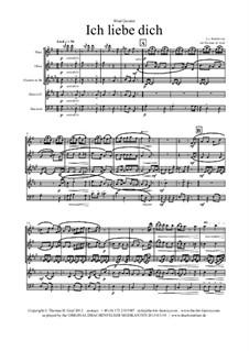 Ich liebe dich, WoO 123: Für bläserquintett by Ludwig van Beethoven