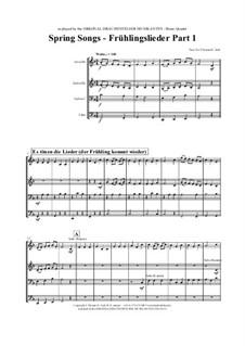 Frühlingslieder: Für Blechblasquartett by folklore