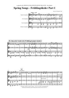 Frühlingslieder: For saxophone quartet by folklore