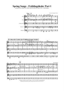 Frühlingslieder: Für bläserquintett by folklore