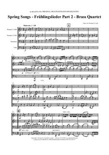 Frühlingslieder. Part 2: Für Blechblasquartett by folklore