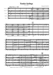 Tender feelings - Bossa Nova: Für Blechblasquintett by Thomas Hans Graf