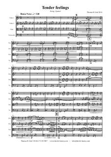 Tender feelings - Bossa Nova: Für Streichquartett by Thomas Hans Graf