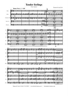 Tender feelings - Bossa Nova: For wood wind quintet by Thomas Hans Graf