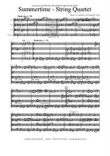 Summertime: Für Streichquartett by George Gershwin