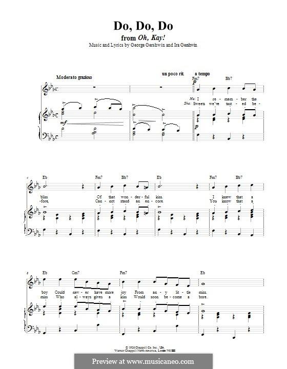 Do Do Do: Für Stimme und Klavier (oder Gitarre) by George Gershwin