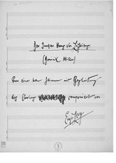 Junker Hans von Luftibus für eine hohe Stimme mit Klavierbegleitung: Junker Hans von Luftibus für eine hohe Stimme mit Klavierbegleitung by Ernst Levy