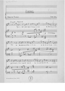 Chanson für eine Singstimme mit Klavierbegleitung: Chanson für eine Singstimme mit Klavierbegleitung by Ernst Levy