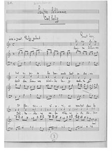 Vier Liebeslieder für eine mittlere Singstimme mit Klavierbegleitung: Nr.1, 2, 4 by Ernst Levy