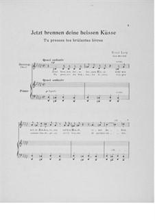 Vier Liebeslieder für eine mittlere Singstimme mit Klavierbegleitung: Nr.4 'Jetzt brennen deine heissen Küsse' by Ernst Levy