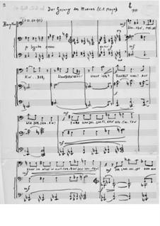 Der Gesang des Meeres für Bariton und Klavier: Der Gesang des Meeres für Bariton und Klavier by Ernst Levy